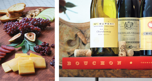 cheese-plate-wine-bottles