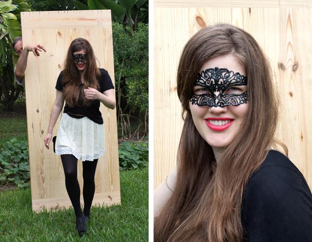 diy lace masquerade