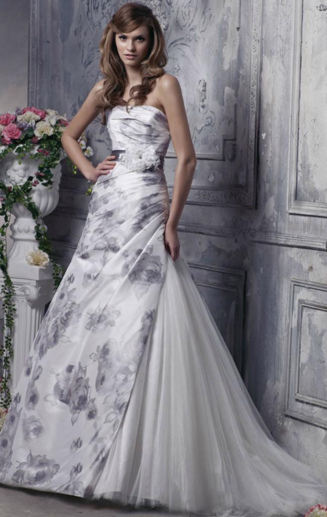 Floral-Print-Wedding-Dress