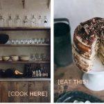 tiramisu cake and lovely kitchen