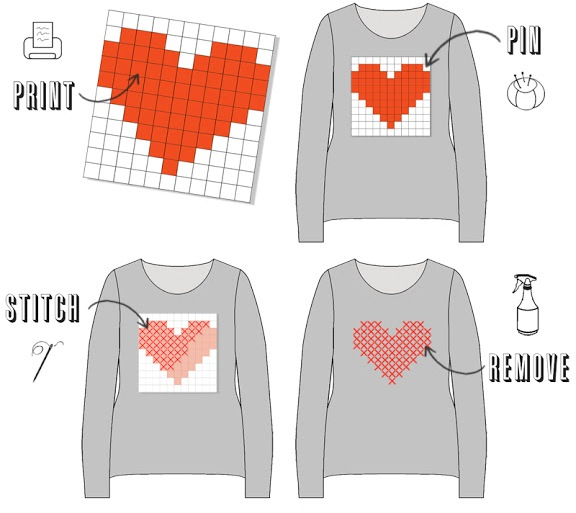 diy heart sweater tee cross stitch do it your self project cheap look for less jcrew graphic print illustrated tutorial directions how to 2