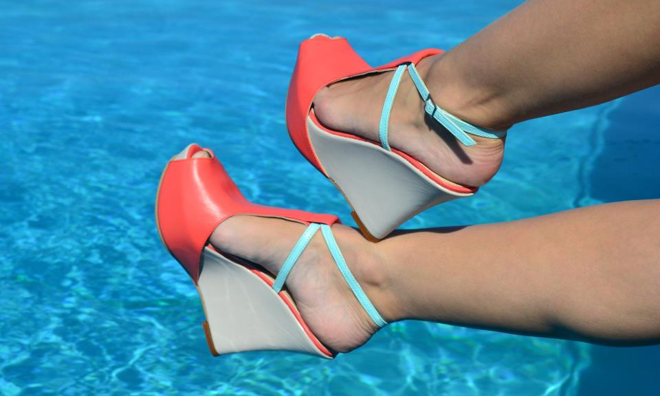 coral wedge sandals pixie shoes