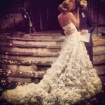 fairytale dress stunning wedding gown roses lace tulle