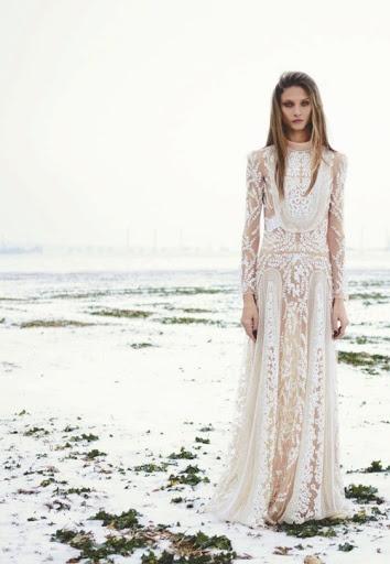 fairytale dress geometric transparencies wedding gown