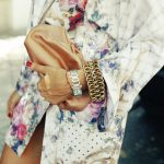 flowers gold bangles robe jacket