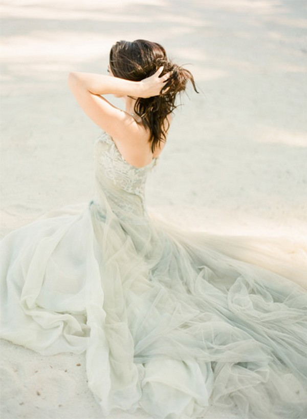 fairytale dress aqua madness coloured wedding dress