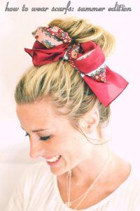 summer hair scarf