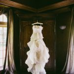 stunning wedding dress Vera Wang gown ruffles