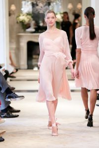 powdery pink silk crepe ralph lauren resort 2014