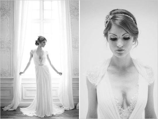 Fairytale dress sexy lace plunging neckline greek shape