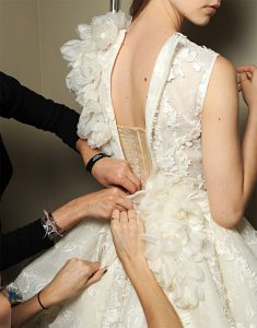 fairytale dress working hands bridal gown