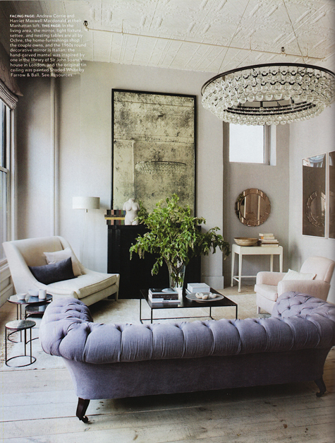 nyc loft lilac sofa ochre lighting project fairytale (2)