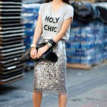Project Fairytale: Grey Tshirt, Sequined Skirt