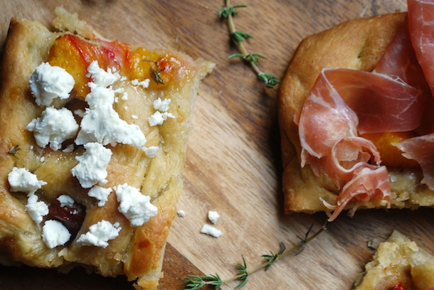 Project Fairytale: Grilled Peach Focaccia Apetizers