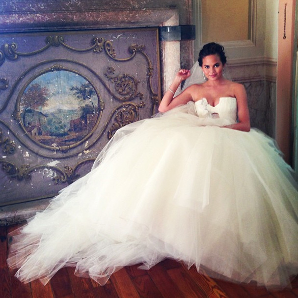 Project Fairytale: Chrissy Teigen's Stunning dresses as she weds Jon Legend