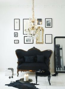 project fairytale: black and white room black sofa