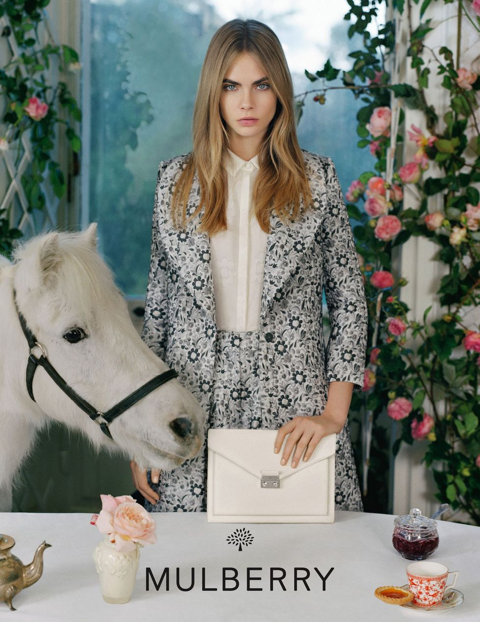 Mulberry SS 2014 Campaign featuring Cara delevigne, photographed by Tim Walker