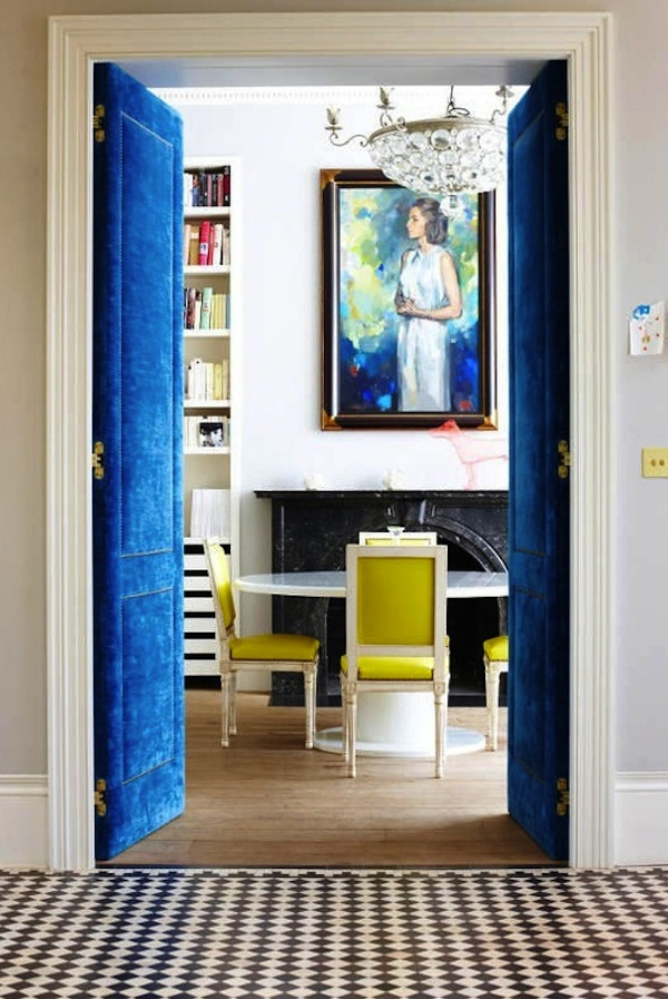 Project Fairytale: Blue Upholstered Doors