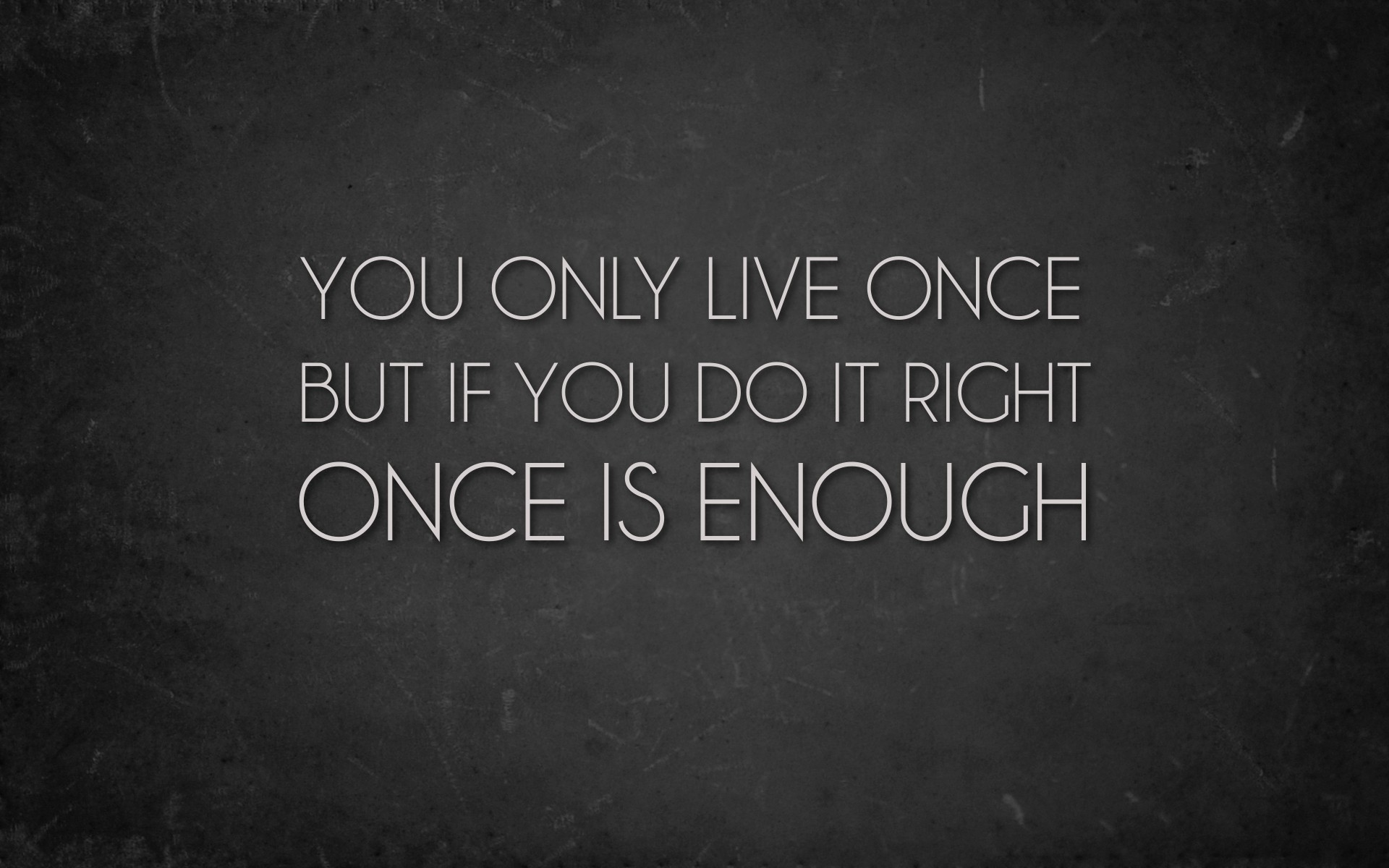 You only live Once - Project Fairytale