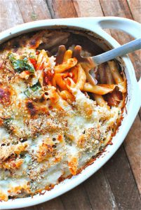 Project Fairytale: Baked Penne With Tomatoes and Spinach