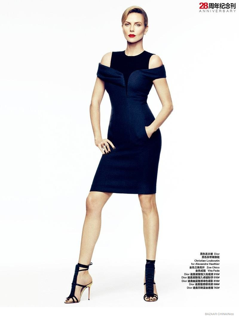 Project Fairytale:Charlize Theron for Bazaar China Oct. 2014