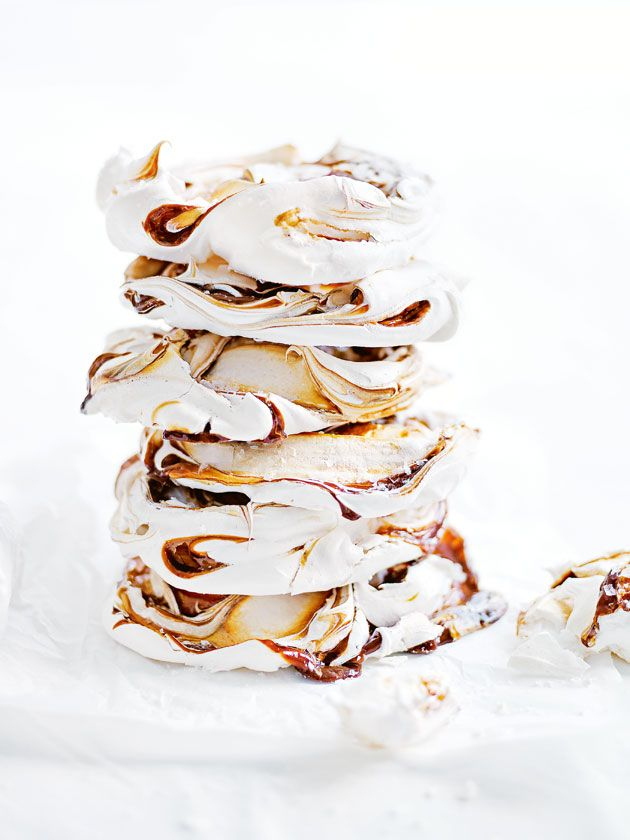 Project Fairytale: Salted Caramel Swirl Meringues