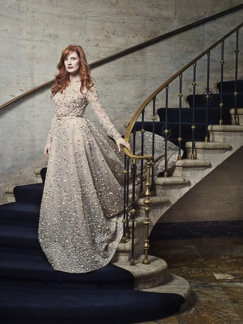 Project Fairytale: Jessica Chastain Harper's Bazaar
