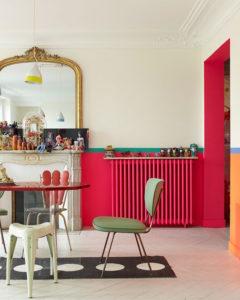 @pfairytale Colorful cast iron radiator