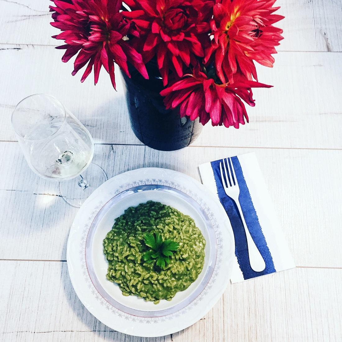 @pfairytale Creamy Spinach Risotto
