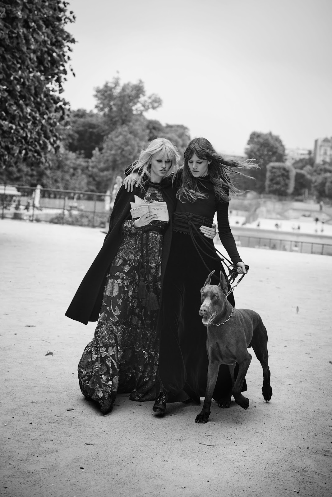 @projectfairytale: novel romance | lara stone and freja beha erichsen by peter lindbergh for w november 2015