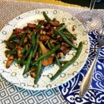 @projectfairytale: Chantrelle Mushrooms with Green beans, Bacon and Toasted Walnuts