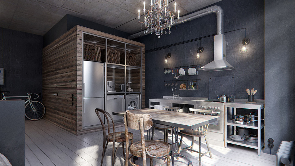 Interiors A Cool 40 Sqm Industrial Chic Apartment Project Fairytale